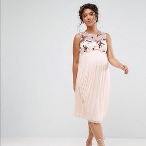 Little Mistress Maternity Floral Skater Midi